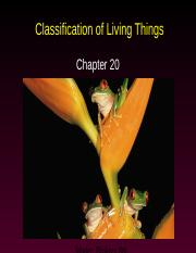 AP Ch. 20--Classification of Living Things