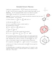 Extended Green's Theorem review