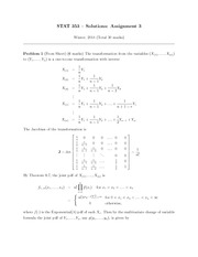 STATS 353 HOMEWORK 3 SOLUTIONS