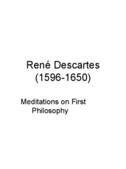 the improtance of meditation according to rene descartes Introduction to descartes meditations on first philosophy meditation i meditation ii according to descartes, which of the following beliefs are foundationally justified for rene descartes (france.