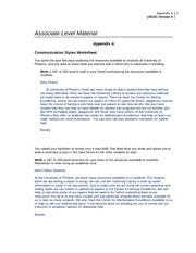 us101 r5 appendix a communication styles Associate program material appendix a communication styles worksheet you spent the past few days exploring the resources available to students at university of phoenix, and you want to share what you learned with a friend who is interested in enrolling.