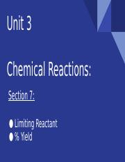 Chemical Reactions sec. 7