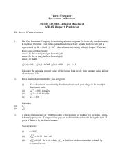 AMLCR Chapter 8 Problem Set