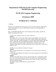ECSE 322 Problem Set 2 Solutions