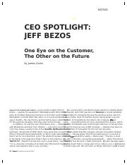 CEO SPOTLIGHT - JEFF BEZOS