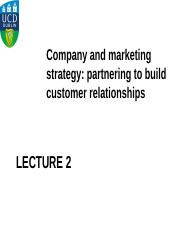2nd Lecture - Partnering To Build Customer Relationships(1)