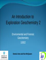 Exploration Geochemistry 2