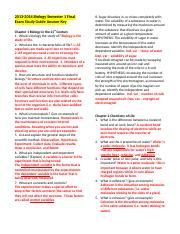 BIO study guide exam - BIO Exam Study Guide Answer Key ...