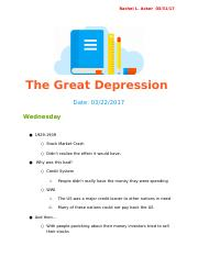 The Great Depression .docx