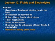 Lecture 12  BOL Fluids and eletrolytes-1