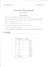 Econ 11b: Practice Final Exam with Answers