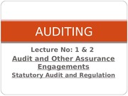AUDITING Lecture 1 & 2
