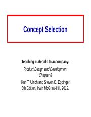 8 Concept_Selection.ppt