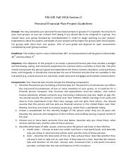 FIN 435 personal financial plan project guidelines.pdf