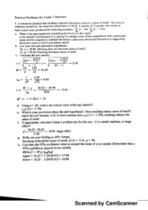 Practice Problems for Exam 3 w Answers