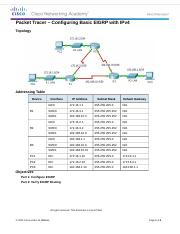 7.2.2.4 Packet Tracer - Configuring Basic EIGRP with IPv4 Instructions.docx