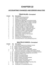 Advanced Accounting Chapter 22