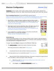 Electronconfigurationse Key 1 Doc Electron Configuration Answer Key Vocabulary Atomic Number Atomic Radius Aufbau Principle Chemical Family Diagonal Course Hero