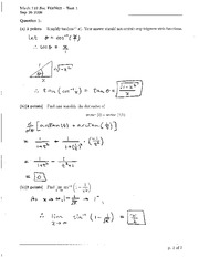 Math 122 Test 1 Solutions