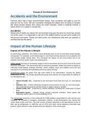 20 - Humans & Our Environment .docx