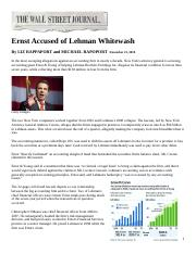Lehman - Ernst  Young - Repo 105 Articles