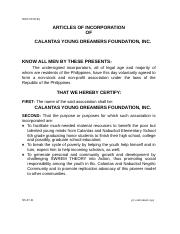 Articles of Incorporation CYDFI Philippines - Calantas Young ....doc