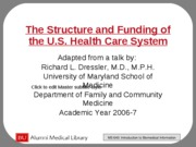 Health Care System - USA