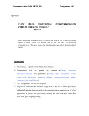 Communication Skills - MCM301 Fall 2007 Assignment 03