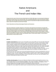 Native Americans and the French & Indian War