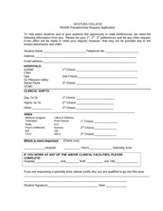 Preceptor Request Application Form