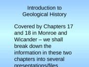 Short File 106-01 Basic Concepts, Geological Time and Change