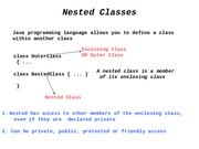 L11 nested classes