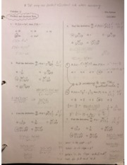 Calculus 12 Product and Quotient Rule Practice Test