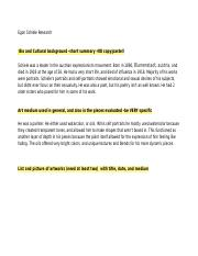 Egon Sheile research