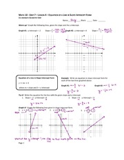 Slope and Intercept Notes
