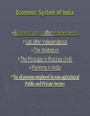 Economic System of India.ppt