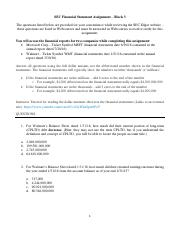 SEC Financial Statement Assignment - Block 3-2
