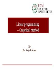 PDM Graphical Linear Programming