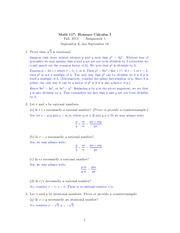 Math 117 Assignment 1