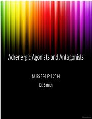 5 - Adrenergic Agonists and Antagonists - s
