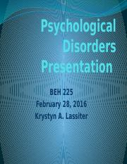 Psychological Disorders Presentation (1)