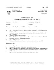 ECSE 353 2006 Final Exam Solutions