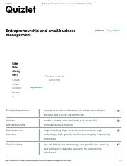 Entrepreneurship and small business management Flashcards _ Quizlet.pdf