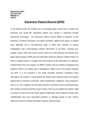 Electronic Patient Record1