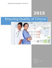 Ensuring Quality Care