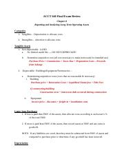 ACCT 640 Final Exam Review