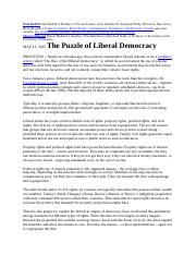 Article Rodrik The Puzzle of Liberal Democracy