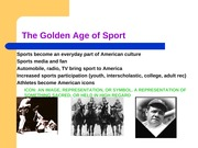 Sport in the early 1900s