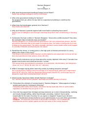 Harrison Bergeron Comprehension Questions Textbook page 45