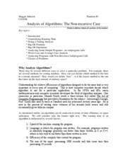 02. Analysis of Algorithms II